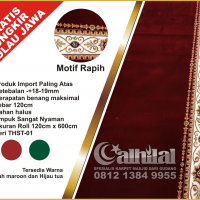 Karpet Masjid Super Premium Merah Maroon THST